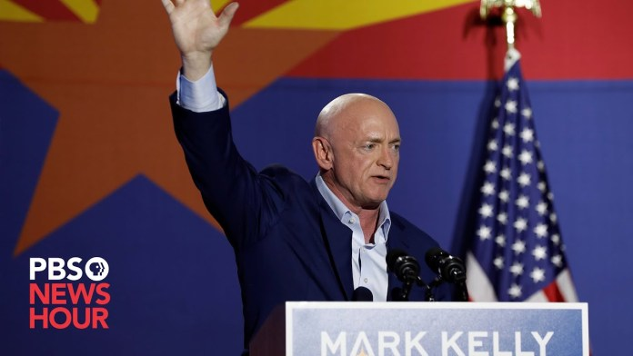 WATCH: Democratic Senate candidate Mark Kelly speaks from Arizona