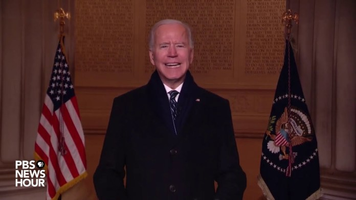 WATCH: Biden speaks at the Lincoln Memorial on inauguration night
