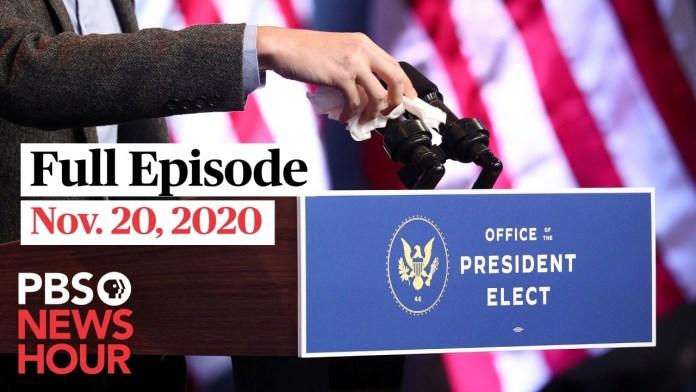PBS NewsHour live episode, Nov. 20, 2020