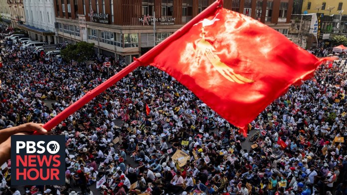 Protests grow in Myanmar despite internet restrictions and police crackdowns