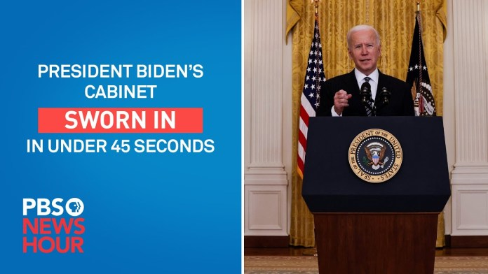 WATCH: Biden's historic cabinet, in under a minute #Shorts