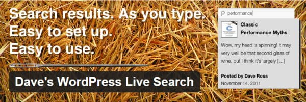 Dave's Live Search WordPress Search Plugin