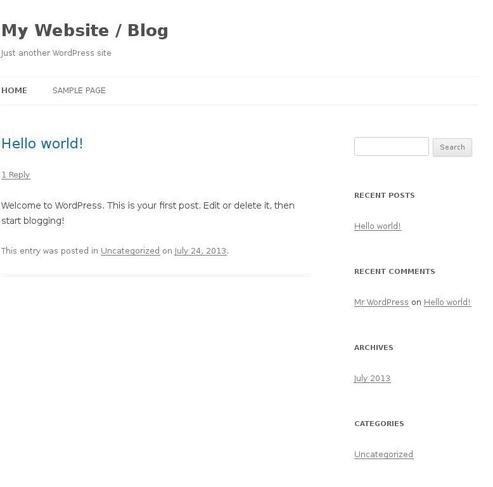 Website ilovenonude.org created using Wordpress Theme