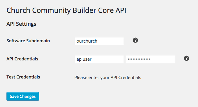 API Settings