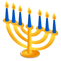 hanukkah icon menorah