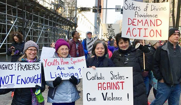 Sisters Stand with March for Our Lives