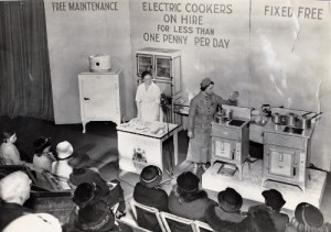 SWEHS 15.0.068.jpg - Date c1936 - Plymouth Corporation Electricity Department cookery demonstration. Devon, Plymouth .