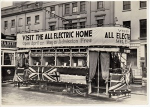 SWEHS 15.0.078.jpg - Date c1930s - Trams advertising All Electric Homes. Devon, Plymouth .