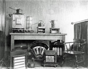 SWEHS 17.0.035.jpg - Date 1917 - Early display of electrical appliances in the Showrooms. Somerset, Taunton .
