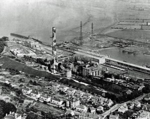 SWEHS 3.2.003.jpg - Date c1947 - Aerial view of Portishead 'A' power station. North Somerset, Portishead .