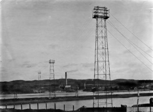 SWEHS 7.0.026.jpg - Date 1911 - Hayle River tower crossing under construction. Cornwall, Hayle .