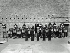 SWEHS 7.1.179.jpg - Date 1911 - Hayle power station. Reyrolle 10kV switchboard with split busbars. Two cables to Carn Brea and two to Nancledra, Penzance and Geevor? Cornwall, Hayle .