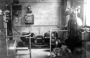 SWEHS 9.0.043.jpg - Date 1936 - Winkleigh generating station of Exe Valley Electricity Co. Ltd.. Generating set. Devon, Winkleigh .