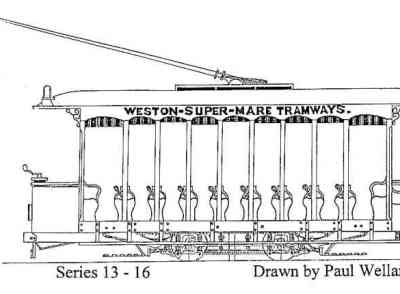 Open Top 4 Wheel Tramcar