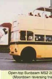 Trolleybuses in Bournemouth - open-top Sunbeam