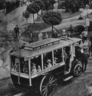 Another View of ther Mulhausen Trolleybus
