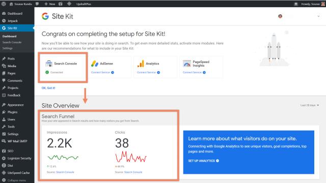 كيفية ربط google site kit و search console 5 نظرة عامة