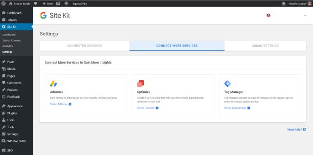 إعداد مجموعة موقع جوجل 2 الخدمات الأخرى المتاحة