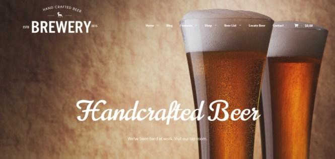 Brasserie: un thème WordPress pour les fabricants de bière