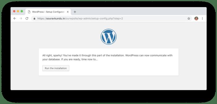 wordpress 5 minutos instalar 4 ejecutar instalación