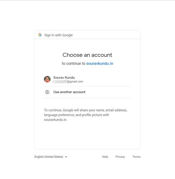 Configuration de Google Analytics avec Site Kit - Authentification Google
