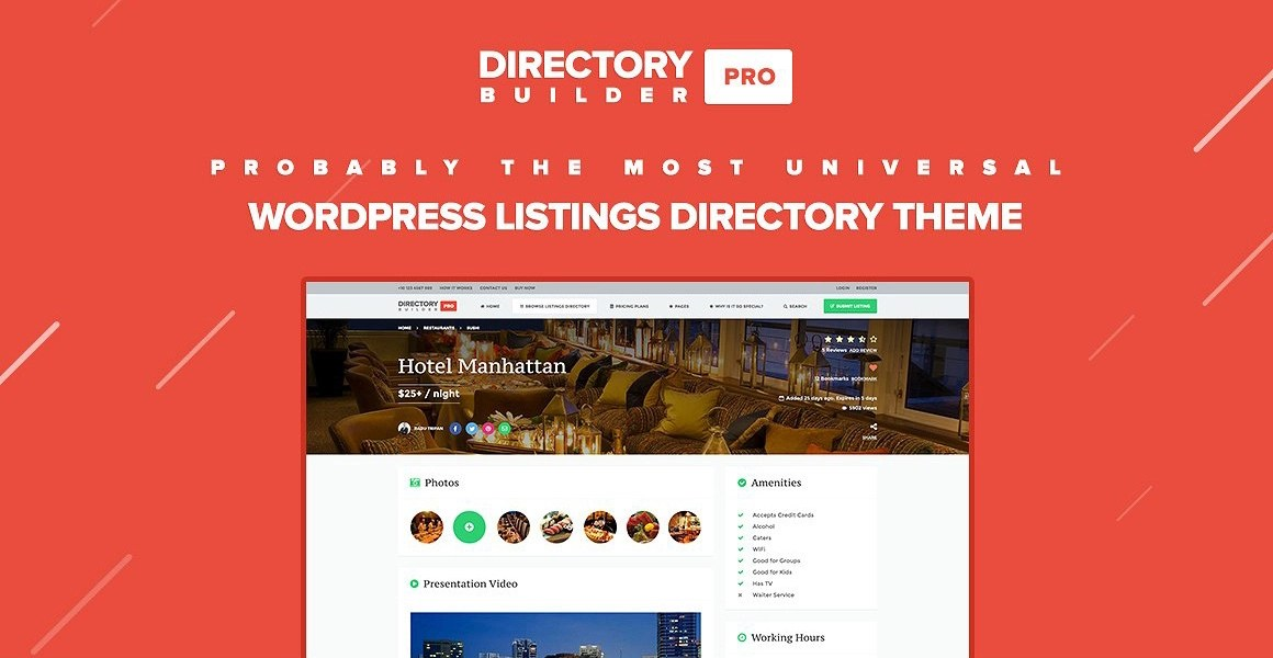 Directory Builder Pro WordPress Theme