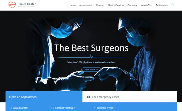 Centro de Salud Salud y Medicina Tema de WordPress