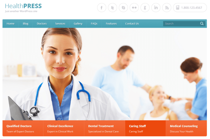 HealthPress Health & Medical Tema de WordPress