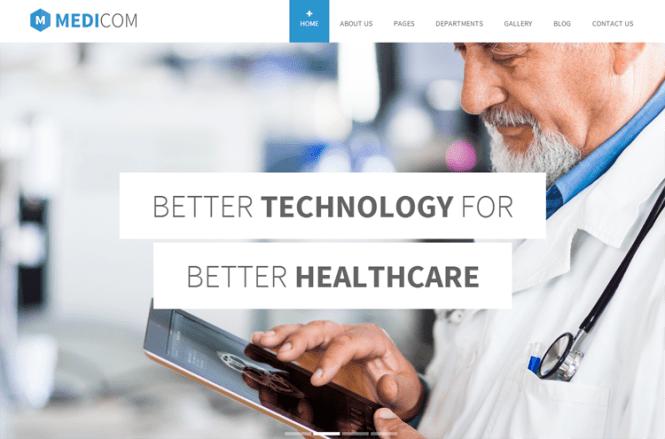 Thème WordPress de Medicom Health & Medical