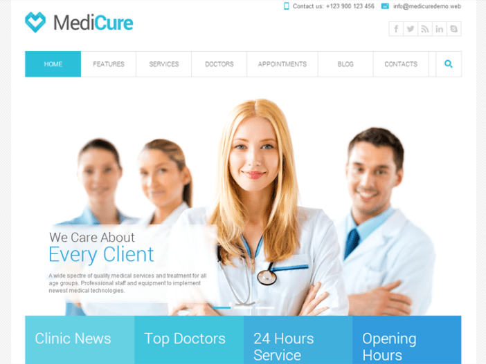 Medicure Health & Medical Tema de WordPress