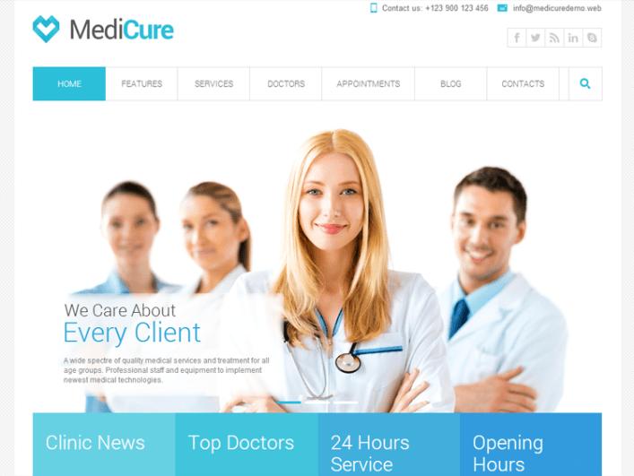 Medicure Health & Medical Tema de WordPress