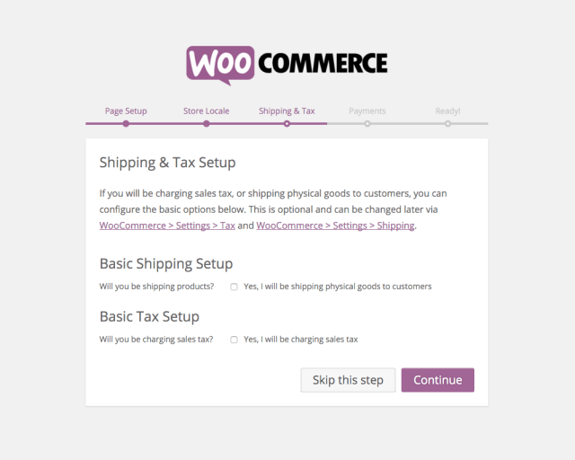 WooCommerce Setup: Shipping