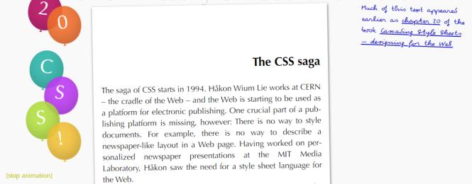 une brève histoire de CSS
