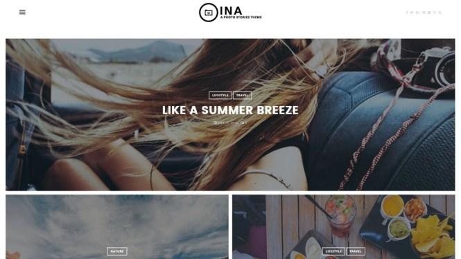 Thème WordPress du thème Histoires de photos INA