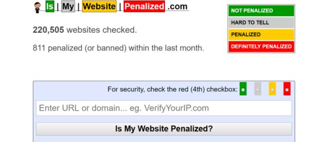 قائمة Google السوداء: IsMyWebsitePenalized