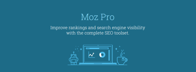 The Moz Pro homepage