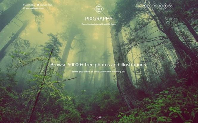 Pixgraphy Photography Thème WordPress gratuit
