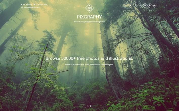 Pixgraphy Photography Tema WordPress Gratis