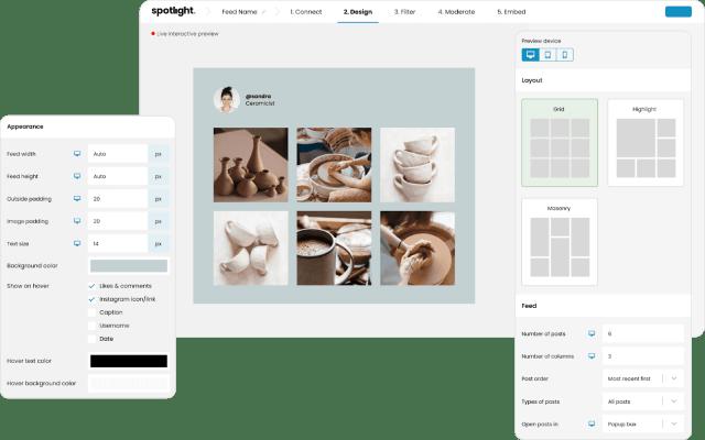 Spotlight Instagram Feeds Design