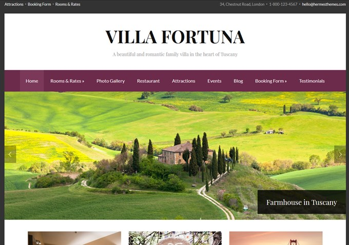 Villa Fortuna WordPress Theme