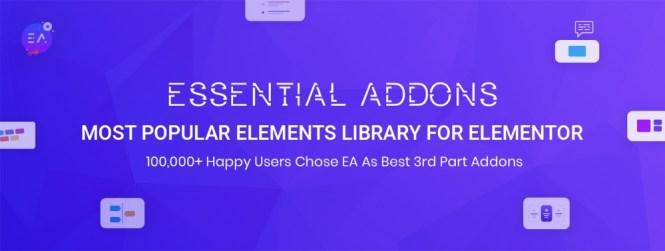 Addons essentiels pour Elementor