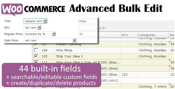 WooCommerce Bulk Edit