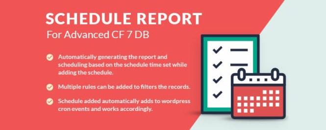 Rapport de planification pour le module complémentaire Advanced CF7 DB Premium