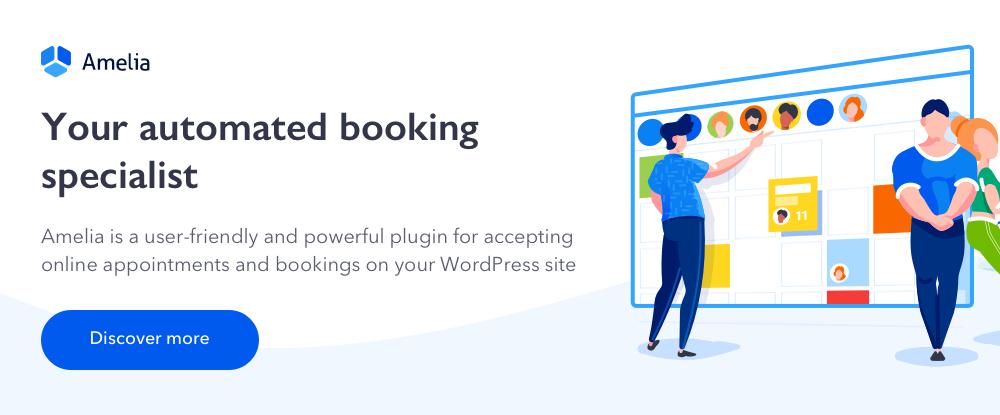 Amelia Enterprise-Level Appointment Booking WordPress Plugin
