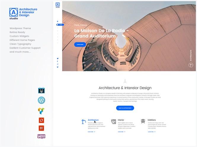 A.Studio - Thème WordPress pour design d'intérieur et architecture