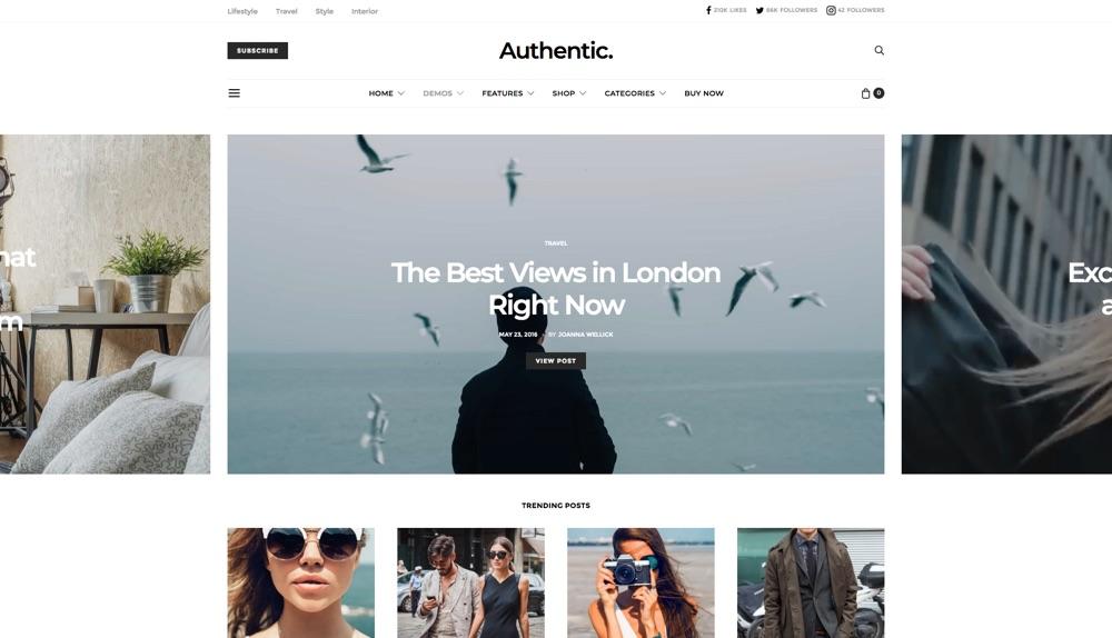 Authentic Lifestyle BlogWordPress Theme