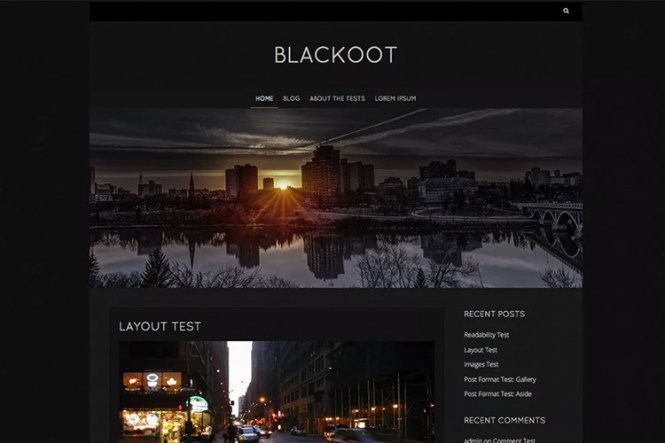 Thème WordPress Blackoot Lite Freemium