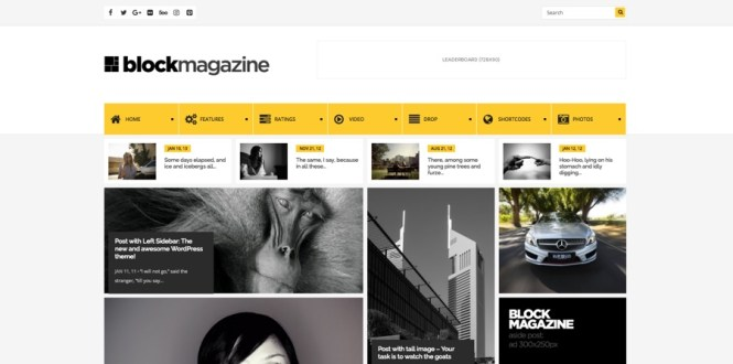 Thème WordPress du magazine Block Flat
