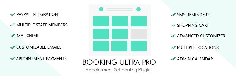 Бронирование Ultra Pro Календарь назначений Бесплатный плагин WordPress