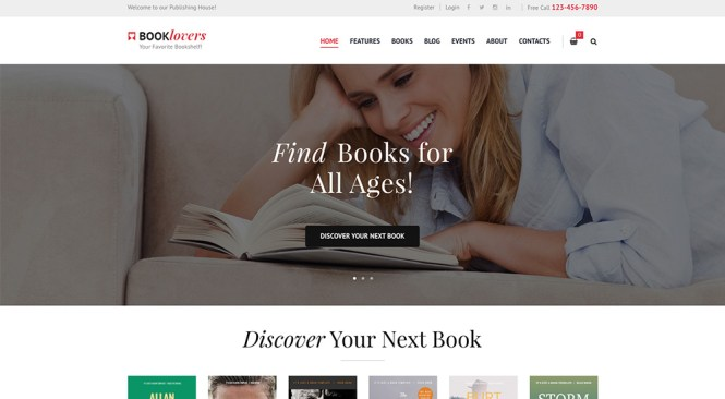 Booklovers Édition & Librairie Thème WordPress